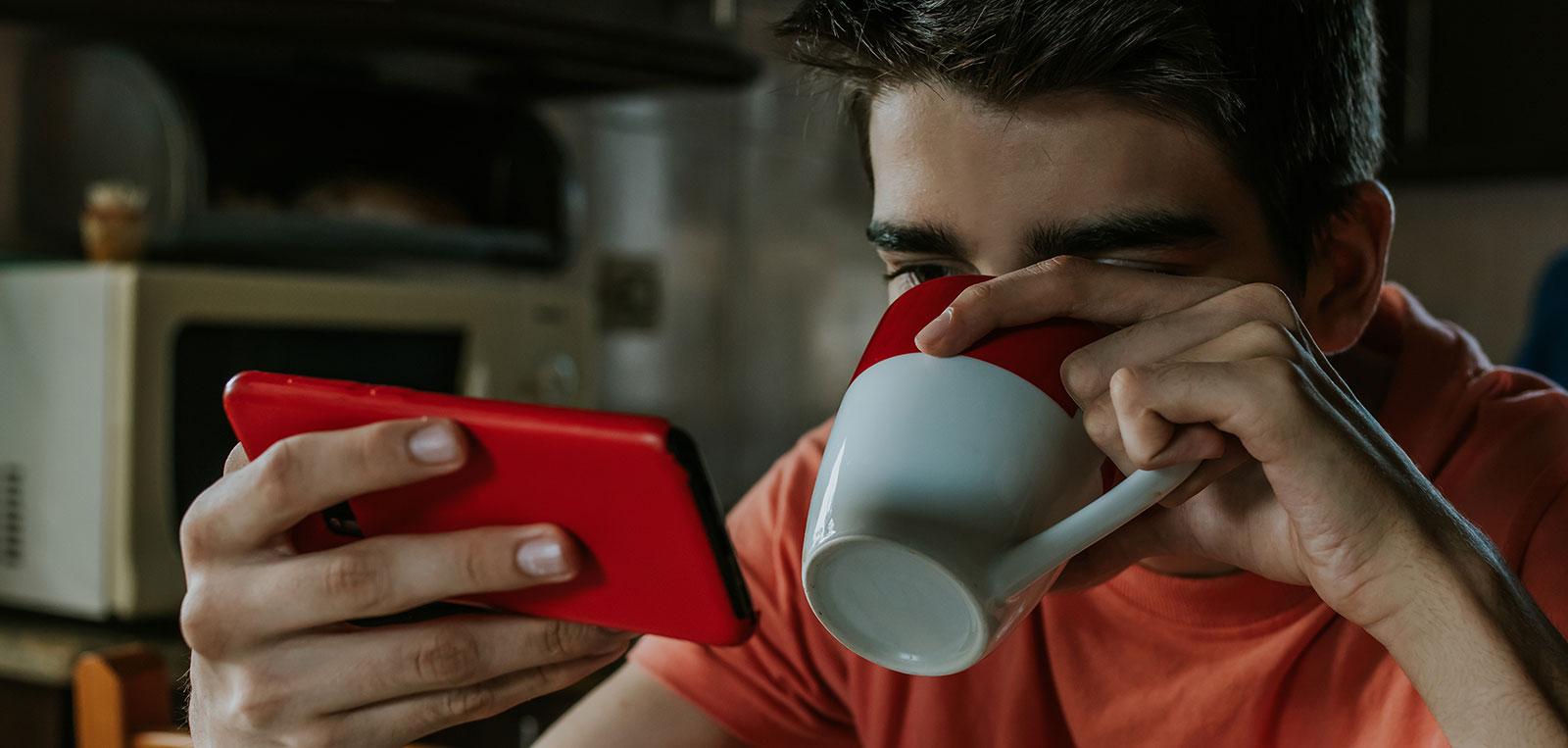 Kaffee lenkt ab